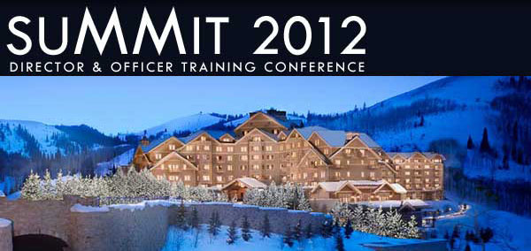 Summit 2012 Logo and image of luxurious Montage Deer Valley Resort